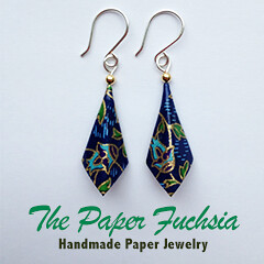 the paper fuchsia - paper jewelry