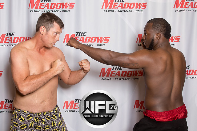 WFC 76 Weigh-Ins at The Meadows Racetrack & Casino 8/4/17
