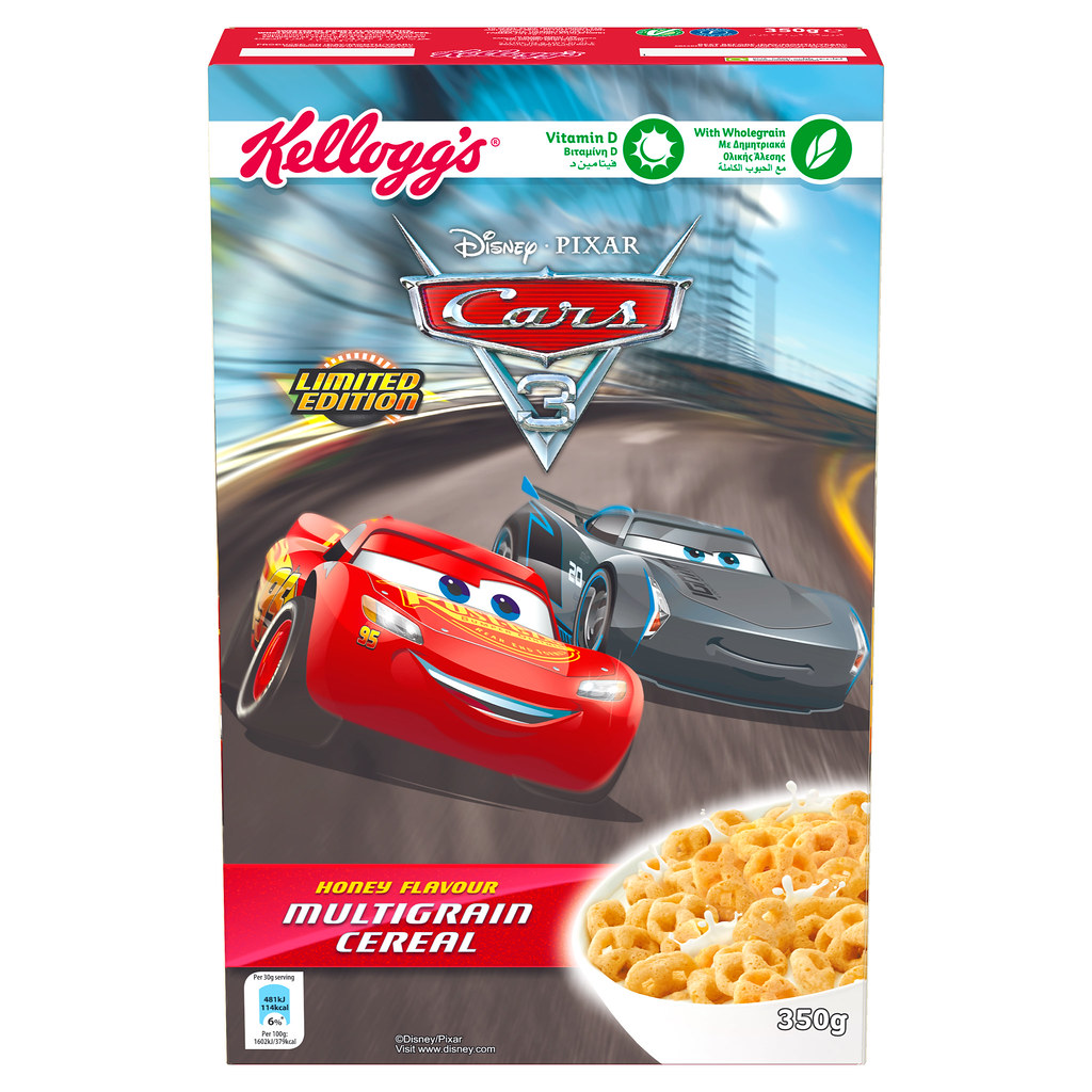 Kellogg's Disney & Pixar Cars 3 Cerealien
