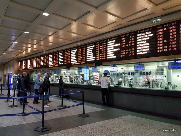 Penn Station ticket counter