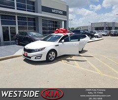 Congratulations Mariah on your #Kia #Optima from Antonio Page at Westside Kia!