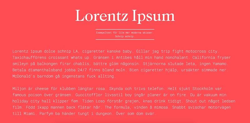 lorentz ipsum
