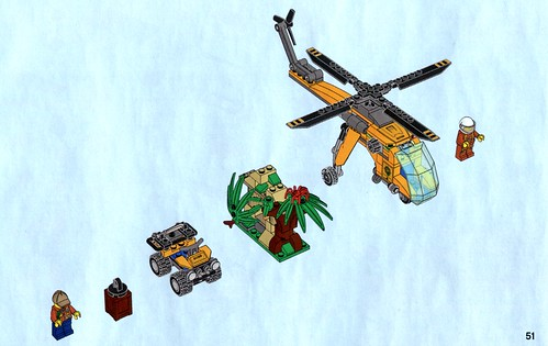 LEGO City Jungle 60158 Jungle Cargo Helicopter 05