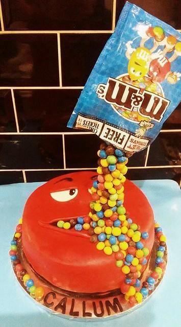 M&M Birthday Cake by Olive Thomas