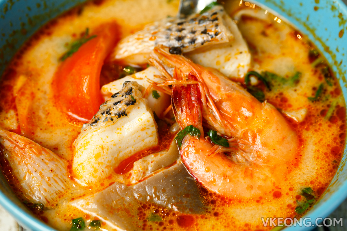 The Porki Society Tom Yum Seafood Prawn Fish