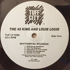 THE 45 KING & LOUIE LOUIE:RYHTHMICAL MADNESS(LABEL SIDE-A)