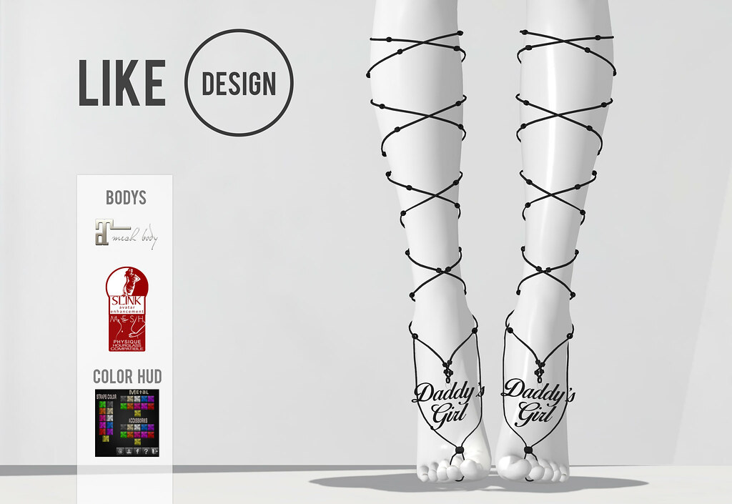 .: LIKE DESIGN :. Highfeet Anklet V3 - SecondLifeHub.com