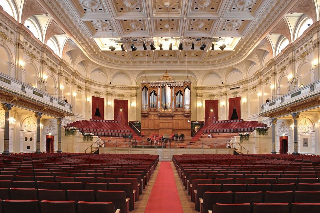 > La vénérable salle de concert du Concertgebouw à Amsterdam.