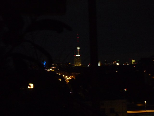Der Telespargel abends