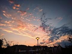 Natural and artificial evening light