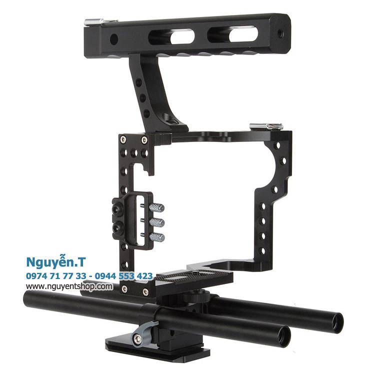 Khung CNC Rig video VD-07 xách tay quay phim Sony A7 A6500 A6300