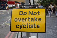 Do not overtake cyclists