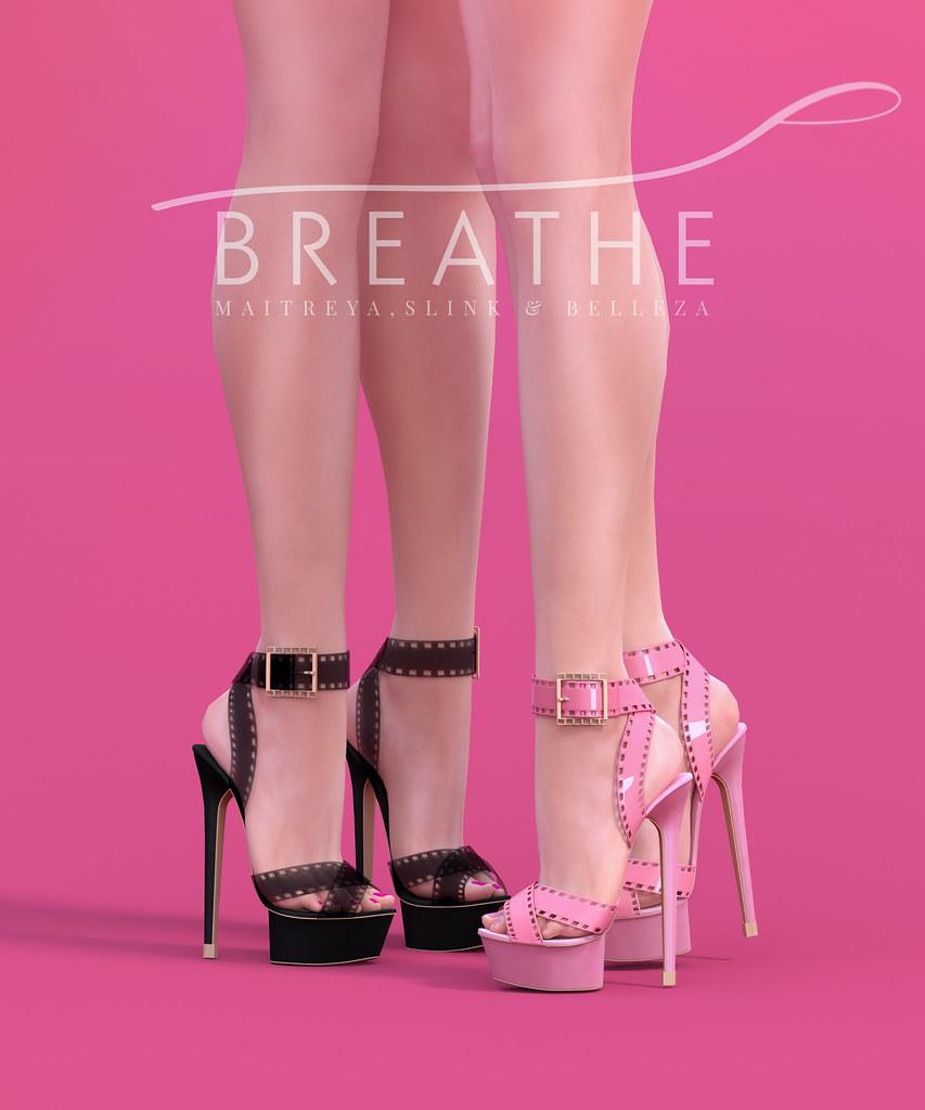 [BREATHE]-Fumiko Heels - SecondLifeHub.com