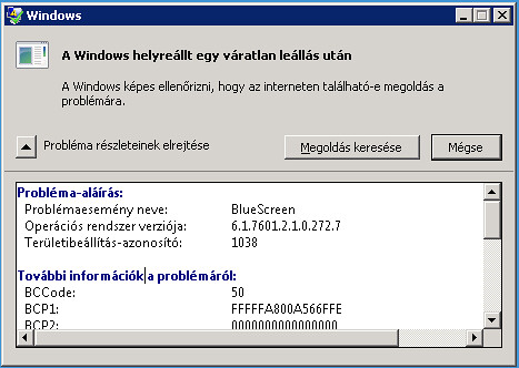 Windows Server 2008 BSOD