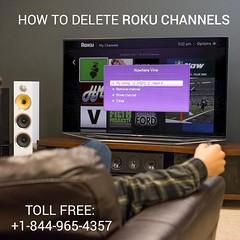 To delete Roku channels