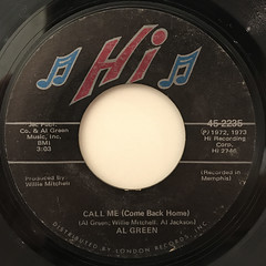 AL GREEN:CALL ME(COME BACK HOME)(LABEL SIDE-A)