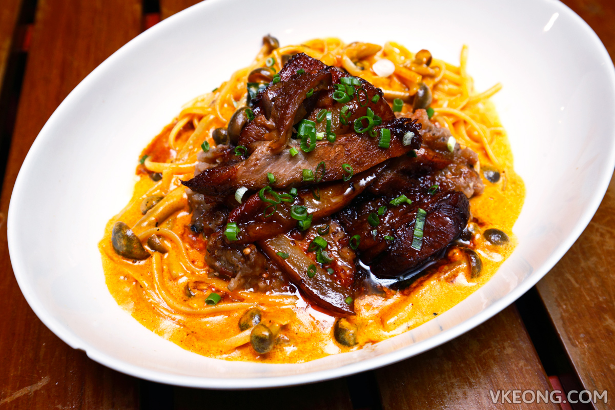 ANTE Char Siu Curry Cream Pasta