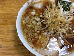 Ramen topped with sliced char siu and leak #1 from Minmin @ Nishi Hachioji