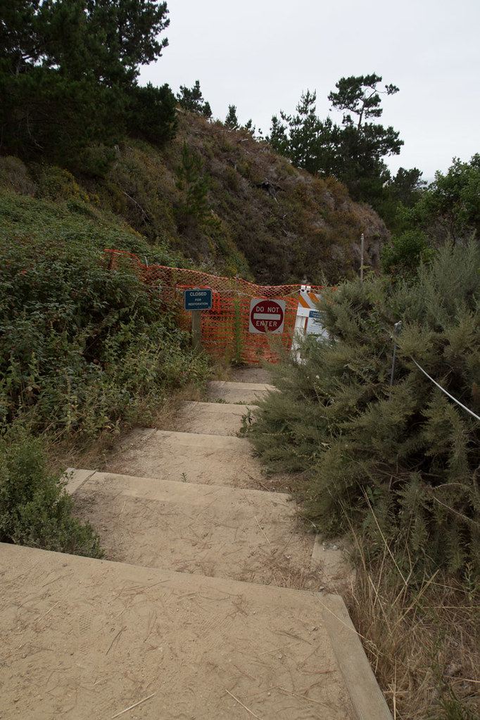 Steps closed to China Beach