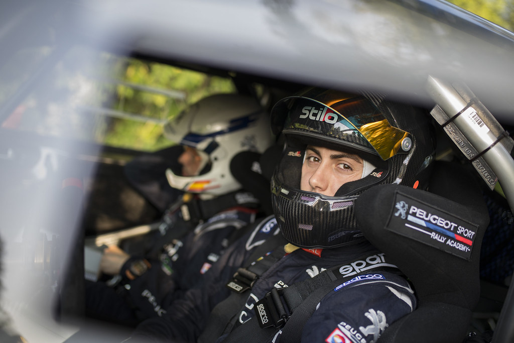 LOPEZ Jose Maria (ESP) ROZADA Borja (ESP) Peugeot 208 T 16 ambiance portrait during the 2017 European Rally Championship ERC Barum rally,  from August 25 to 27, at Zlin, Czech Republic - Photo Gregory Lenormand / DPPI
