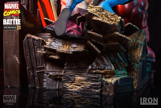 兼具超強魄力與造型細節!!Iron Studios Battle Diorama 系列【金剛狼 vs. 紅坦克】Wolverine vs Juggernaut 1/6 比例決鬥場景雕像