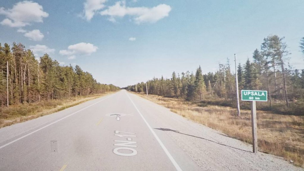60 km to Upsala. #ridingthroughwalls #xcanadabike #googlestreetview #ontario