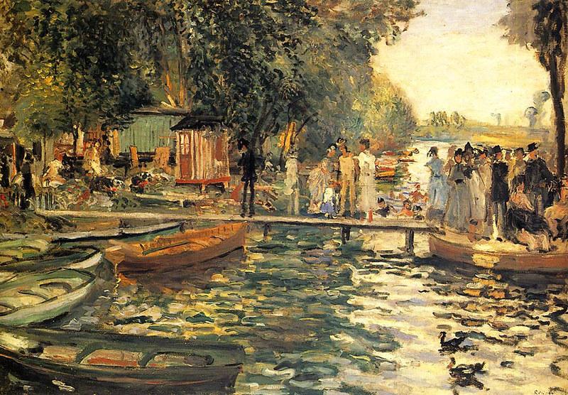 La Grenouillere by Pierre Auguste Renoir, 1869