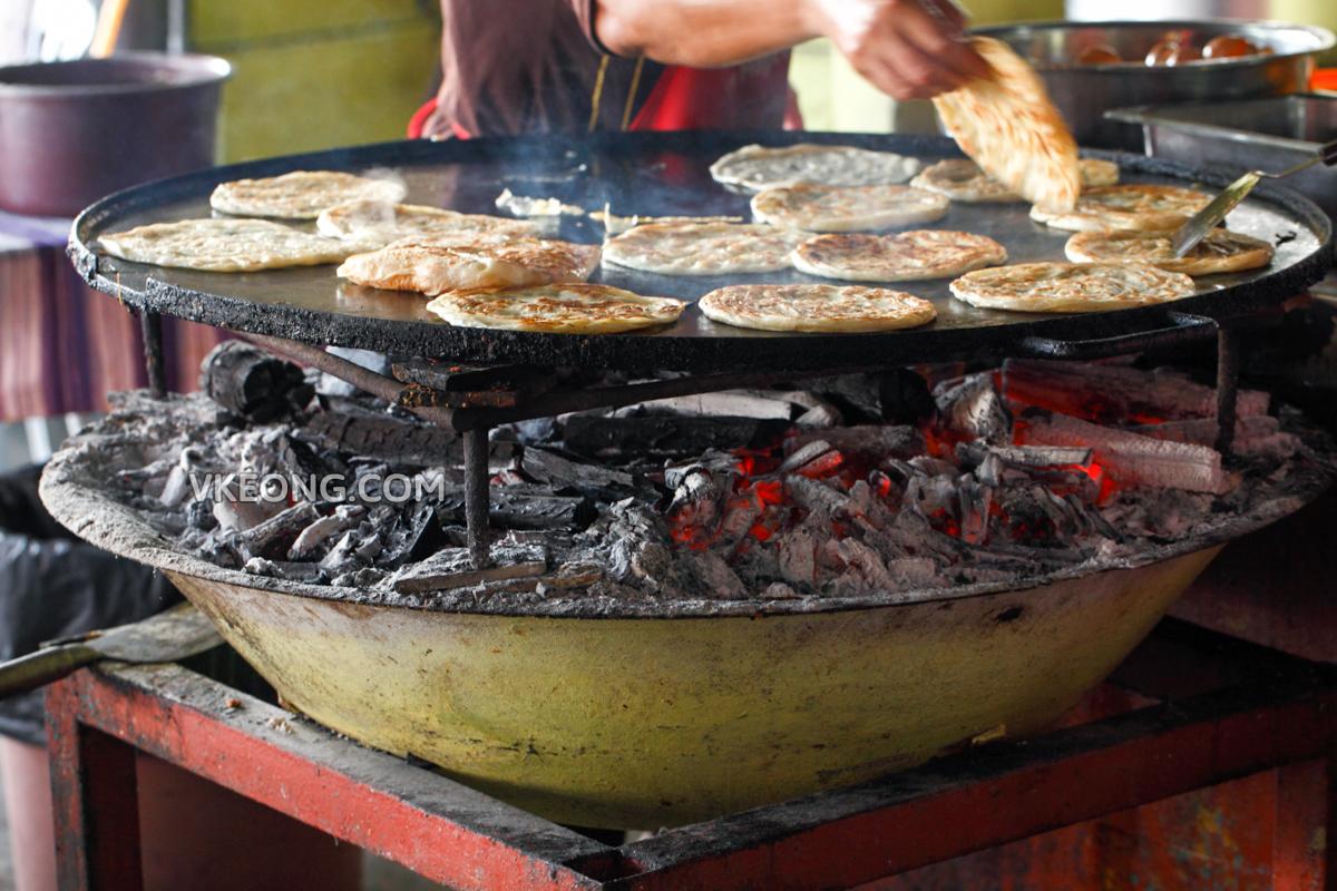 Charcoal Pan Roti Canai Melaka