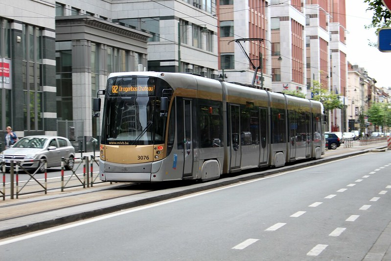 Brussels tram route 82, near Midi station