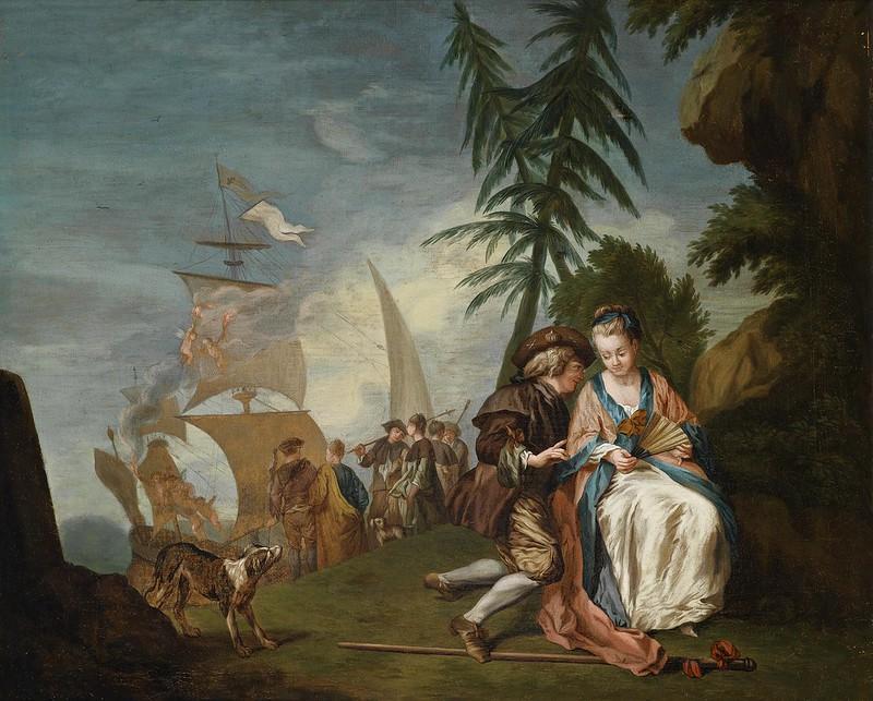 Jean Baptiste Leprince - Paar vor der Einschiffung nach Kythera
