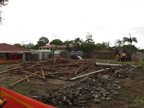 house demolished at Carina