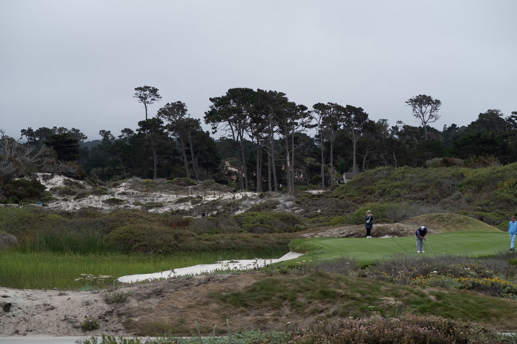 Views of Pebble Beach Golf Holes from 17 Mile Drive