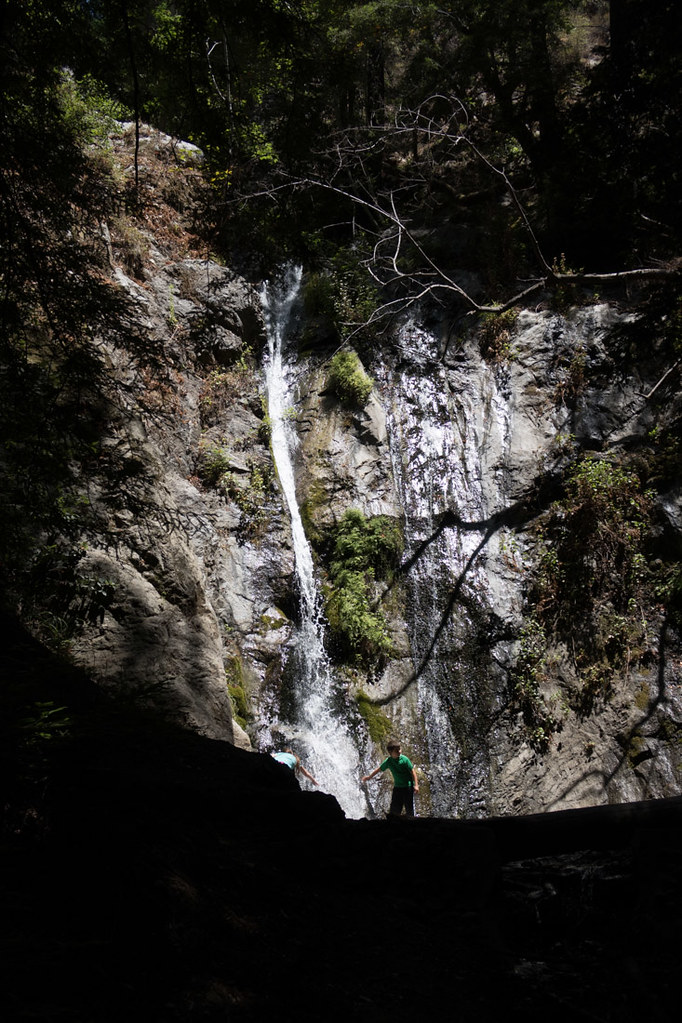 Waterfalls on trail at Trail hikes at Pfeiffer Big Sur State Park
