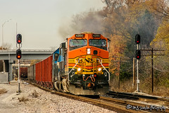 BNSF 4350 | GE C44-9W | BNSF Thayer South Subdivision