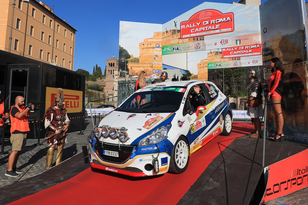 28 MARES Filip (CZE) HLOUSEK Jan (CZE) Peugeot 208 R2 start during the 2017 European Rally Championship ERC Rally di Roma Capitale,  from september 15 to 17 , at Fiuggi, Italia - Photo Jorge Cunha / DPPI