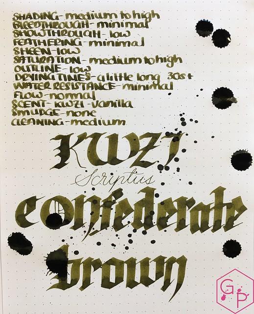 Ink Shot Review Scriptus 2017 x KWZI 150 Confederate Brown 8