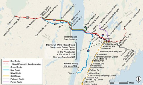 Lower Hudson Transit Link proposed bus service, Westchester/Rockland, New York