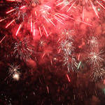 Fireworks of summer end.