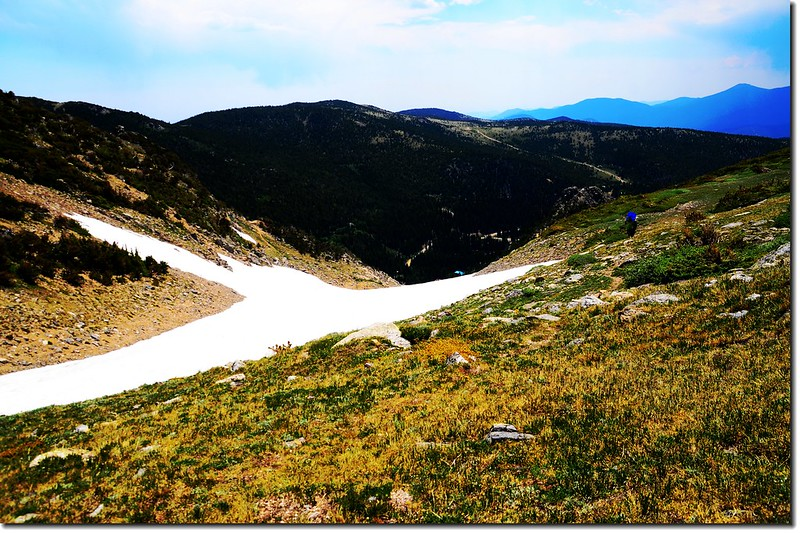 Saint Mary's Glacier from above