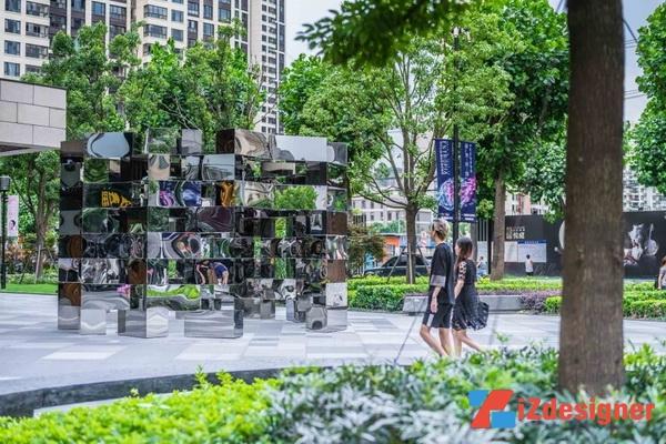 'Chuỗi Vòng' những tấm kính tráng gương ở Thượng Hải, Trung Quốc
