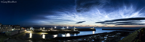 Harbour Nocts - Noctilucent Clouds, Seahouses, Northumberland