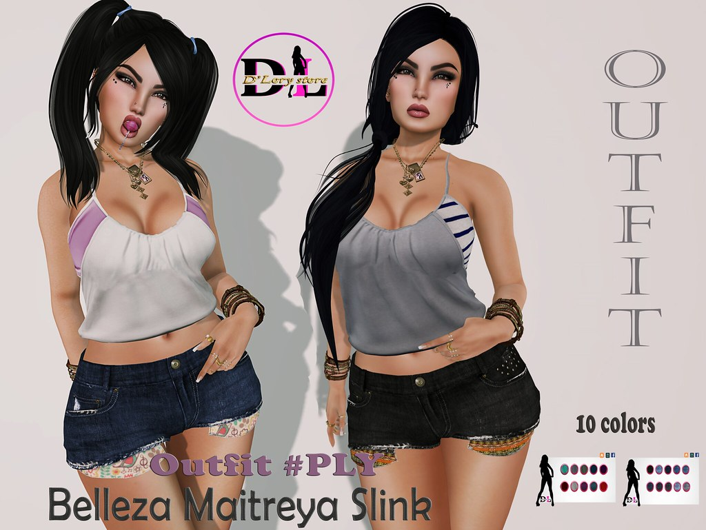 • • • New Release • • •   Outfit # PLY  ✔ Maitreya ✔ Belleza ✔ Slink  MP: https://marketplace.secondlife.com/p/Outfit-PLY/12513236