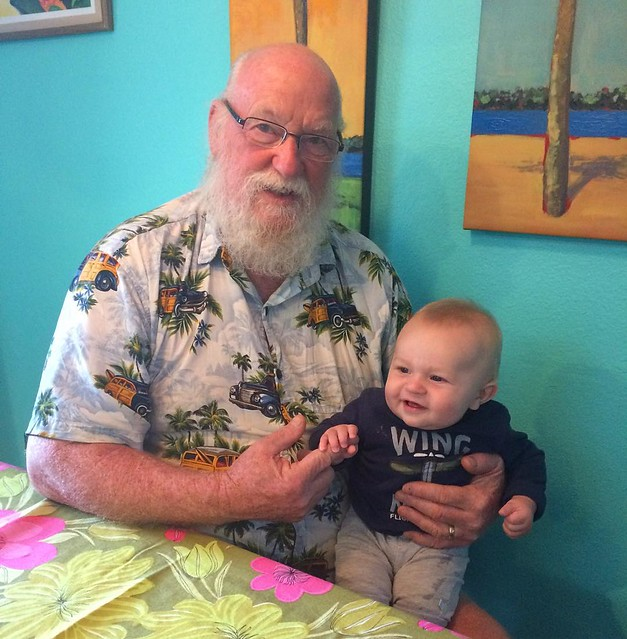 Grampy Steve and Mr. Baby.