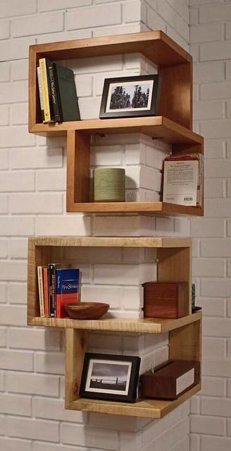10 Dreamlike Corner Wall Shelves fro Bedroom