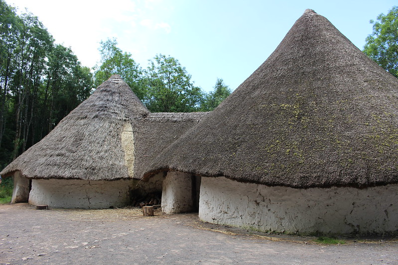 Iron Age round houses, St Fagans Museum, Cardiff