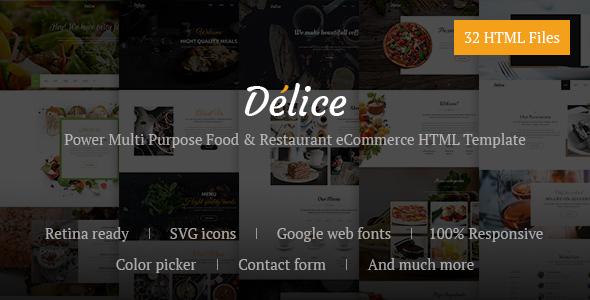 Delice v1.0 – Power Multi Purpose Food & Restaurant eCommerce HTML Template