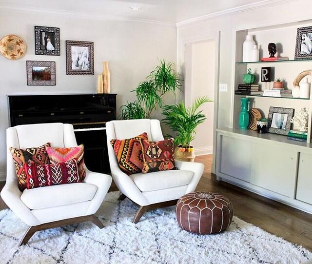 White room - boho textiles