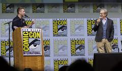 Moderator Chris Hardwick and Steven Spielberg