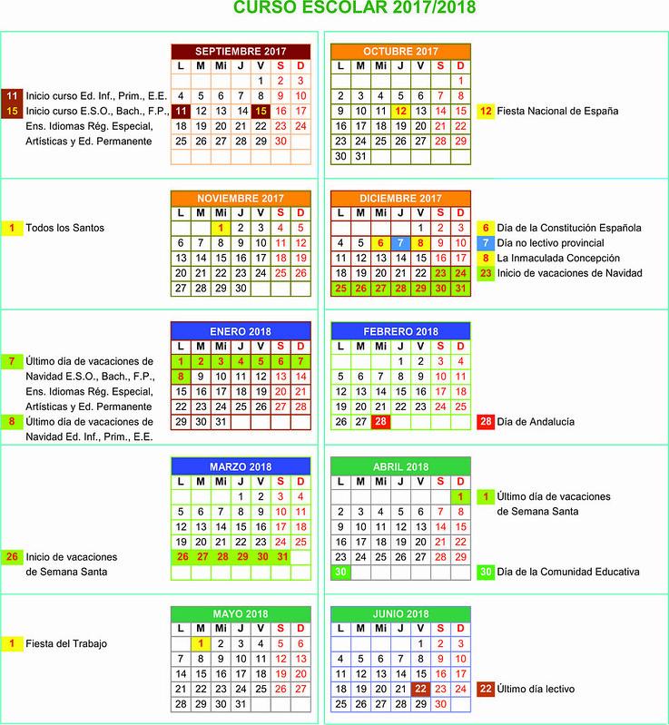 Calendario 20172018