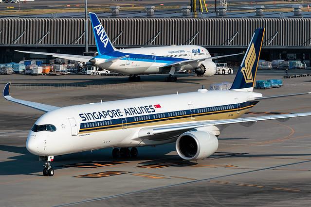 9V-SMH | Airbus A350-900 | Singapore Airlines | Tokyo Haneda
